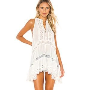 Free people flowy buttondown tunic dress